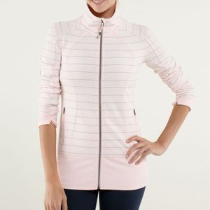 Lululemon Asana jacket pink striped
